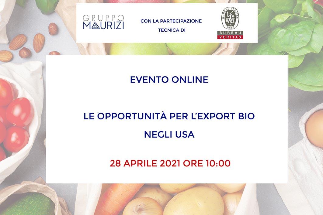 Evento Opportunità Export Bio negli USA